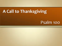 Call to Thanksgiving